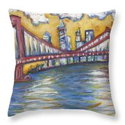 Manhattan Bridge Throw Pillow