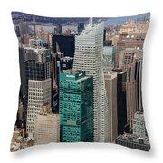 Manhattan Bryant Park Aerial Throw Pillow by Jannis Werner