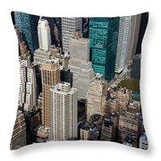 Manhattan Bryant Park Throw Pillow by Jannis Werner