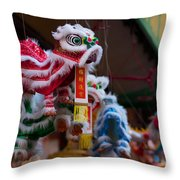 Manhattan Chinatown Decorations Throw Pillow