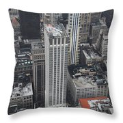Manhattan City Canyons Throw Pillow