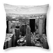 Manhattan Throw Pillow by Dave Bowman
