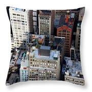 Manhattan From Above Throw Pillow