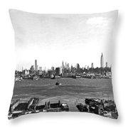 Manhattan From New Jersey Throw Pillow