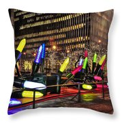 Manhattan Holiday Decorations Throw Pillow