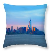 Manhattan In The Morning Throw Pillow