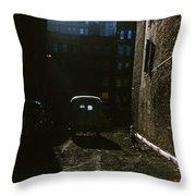 Manhattan Mystery Throw Pillow