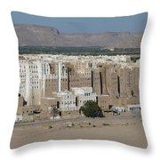 Manhattan Of The Desert Throw Pillow