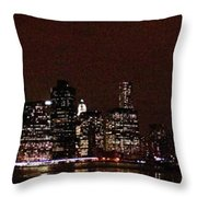 Manhattan On Super Weekend Throw Pillow