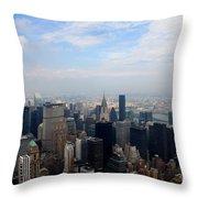 Manhattan Overview Throw Pillow
