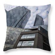 Manhattan Sky And Skyscrapers Throw Pillow