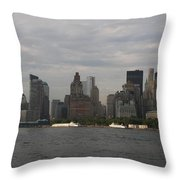 Manhattan Skyline 2010 Throw Pillow