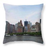 Manhattan Skyline Throw Pillow