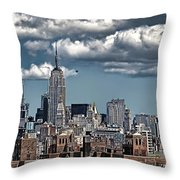 Manhattan-skyline Throw Pillow