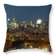 Manhattan Skyline, New York City, New Throw Pillow