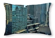 Manhattan Skyscrapers Labyrinth Throw Pillow