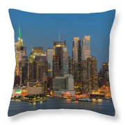 Manhattan Twilight IIi Throw Pillow by Clarence Holmes