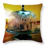 Manhattan Under The Dome Throw Pillow