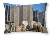Manhattan Urban Jungle Throw Pillow