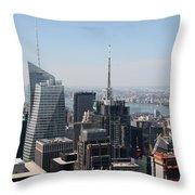 Manhattan View 2012 Throw Pillow