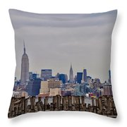 Manhattan View Throw Pillow