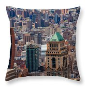 Manhattan View From The Roof Throw Pillow