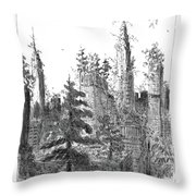 Manhattan Woods Throw Pillow