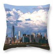 Manhattanincloudbank Throw Pillow