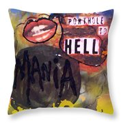Mania Throw Pillow