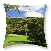 Manifold Valley And Dovecote - Swainsley Throw Pillow