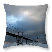 Manistee Lighthouse 7 Throw Pillow