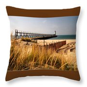 Manistee Lighthouse Throw Pillow