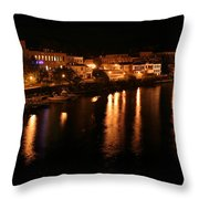 Manistee River Channel 2 Throw Pillow