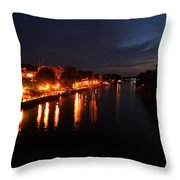 Manistee River Channel Throw Pillow