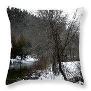 Manistee River Throw Pillow