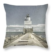 Manitowoc Breakwater Lighthouse II Throw Pillow