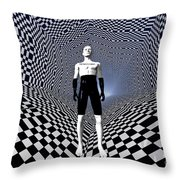 Mankinds Use Of Binary Language Throw Pillow