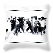 Manly Art Of Boxing Throw Pillow