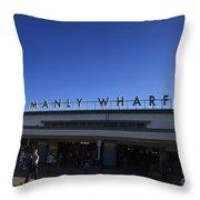 Manly Wharf Throw Pillow