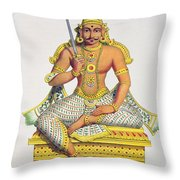 Mannarsouvami, Engraved By De Motte Throw Pillow