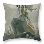 Manned By All American Crew Throw Pillow by Edward Hopper