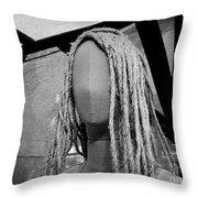 Mannequin Girl Horizontal Throw Pillow