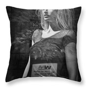 Mannequin In A Window Display Throw Pillow