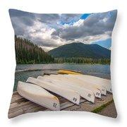 Manning Parks Lightning Lake Throw Pillow
