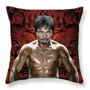 Manny Pacquiao Artwork 1 Throw Pillow