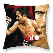 Manny Pacquiao Artwork 2 Throw Pillow