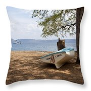 Mano Larga Throw Pillow