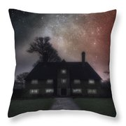 Manor At Night Throw Pillow