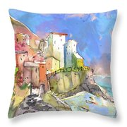 Manorola In Italy 05 Throw Pillow