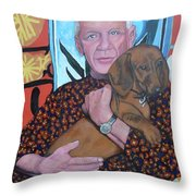Man's Best Friend Throw Pillow by Tom Roderick